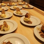 Fencheleis, Espressobirnen und Birnenchips