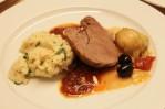 Lammkeule, Artischocken und Couscous